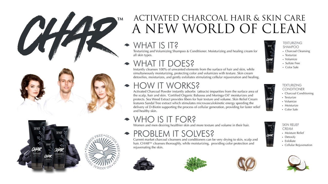 Charcoal Activated Skin and Hair Care