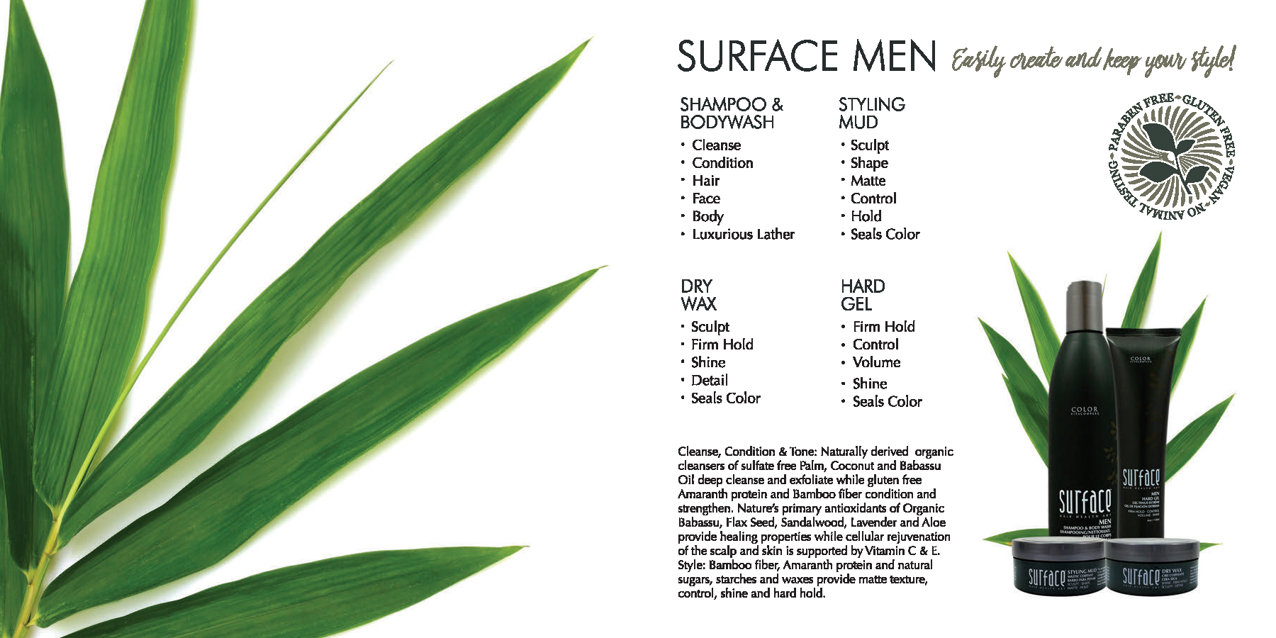 Surface Men Haircare Products