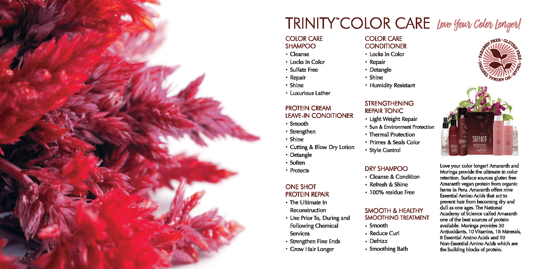 Surface Trinity Color Care Hair Products
